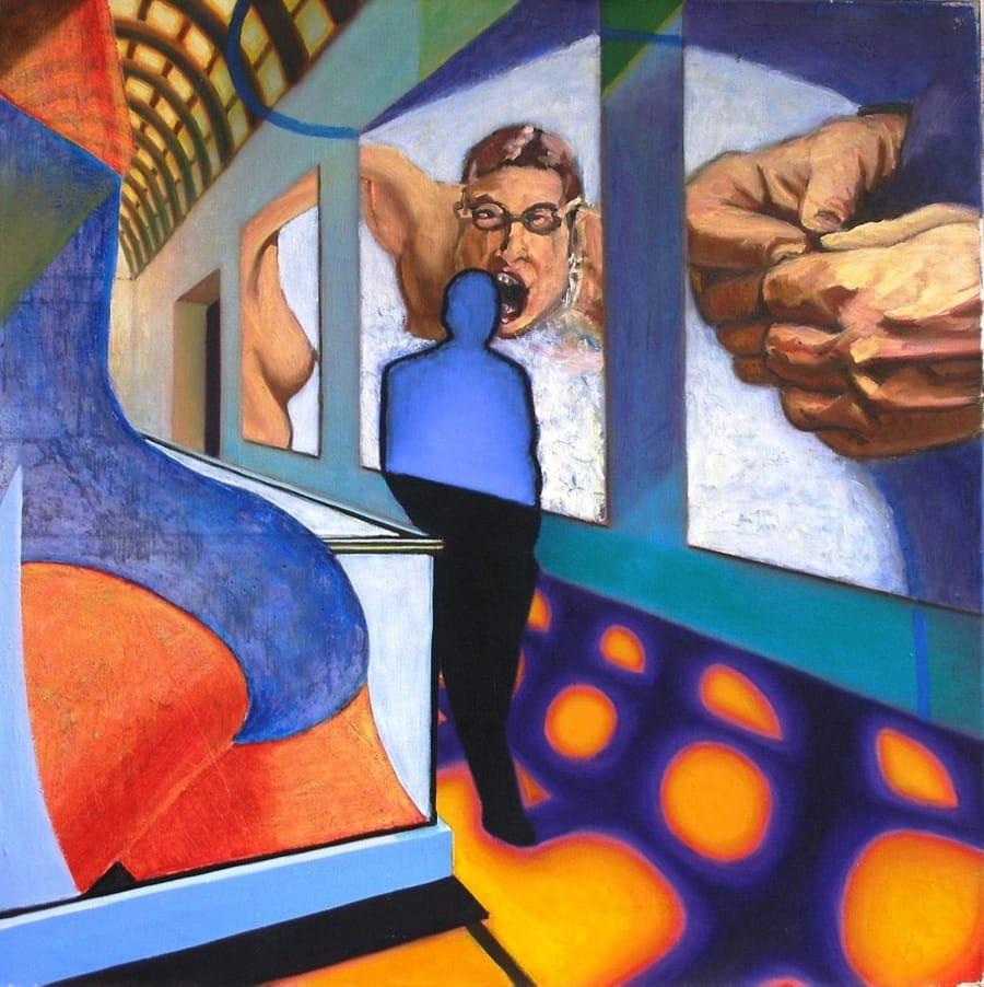 Kunst: painting I van kunstenaar Leo Wijnhoven