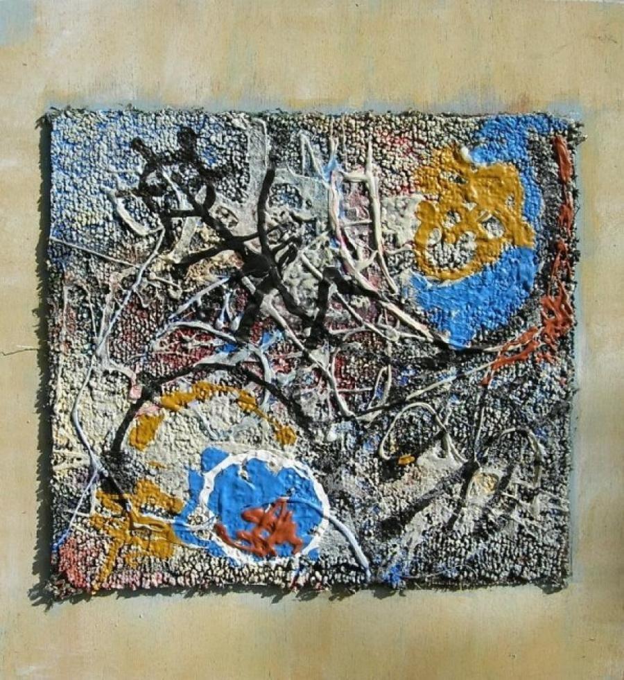 Kunst: paneel 1 van kunstenaar Koeno Jansen