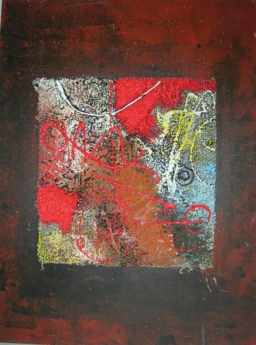 Kunst: paneel 2 van kunstenaar Koeno Jansen