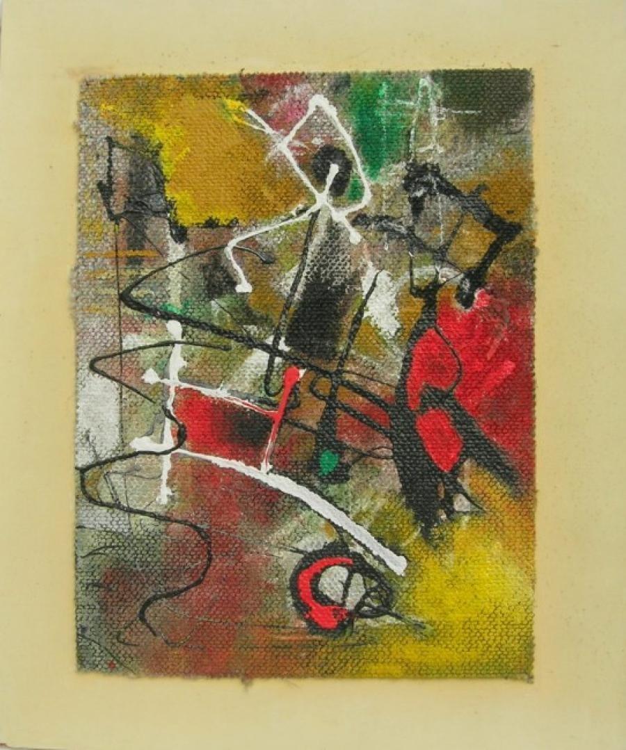 Kunst: paneel 4 van kunstenaar Koeno Jansen