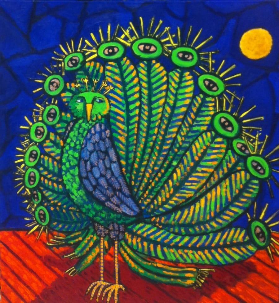 Kunst: Paranoid Peacock van kunstenaar Jacques Tange