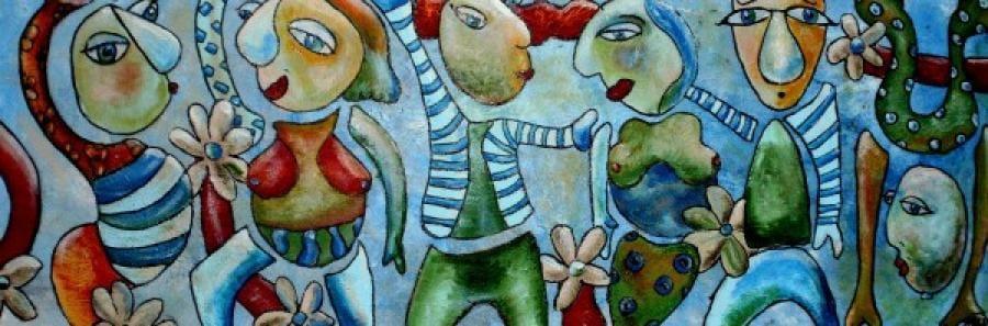 Kunst: party flocks van kunstenaar Carla Broeckx