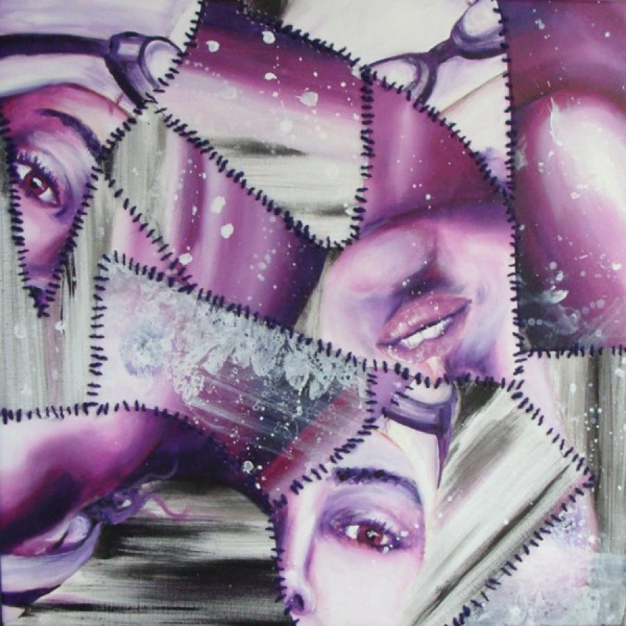 Kunst: Patch work van kunstenaar Tamara Sille