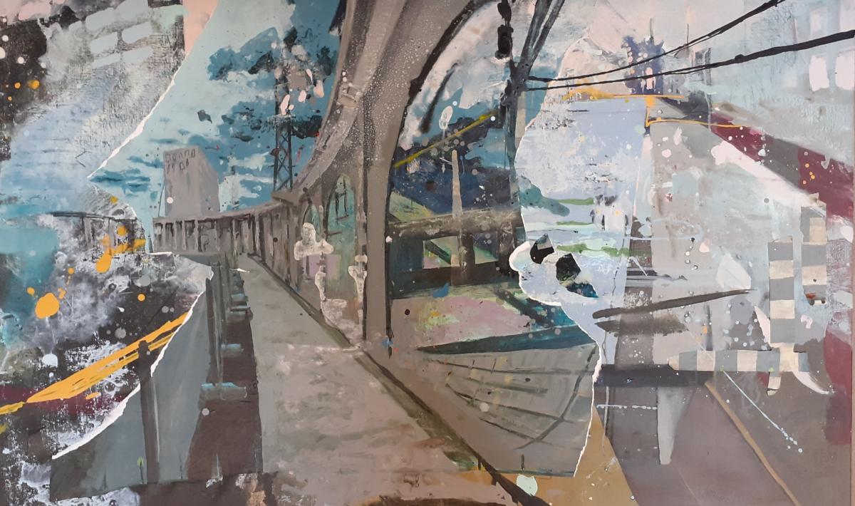Kunst: Path along the water van kunstenaar Anneke Koster