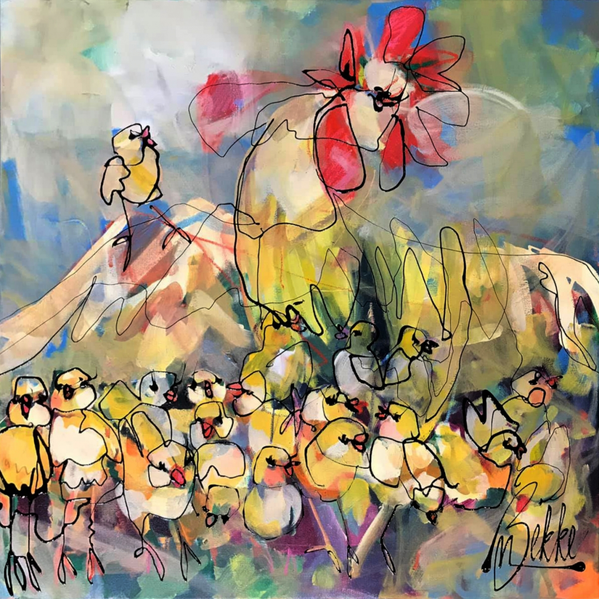 Kunst: Patroness van kunstenaar Marieke Bekke