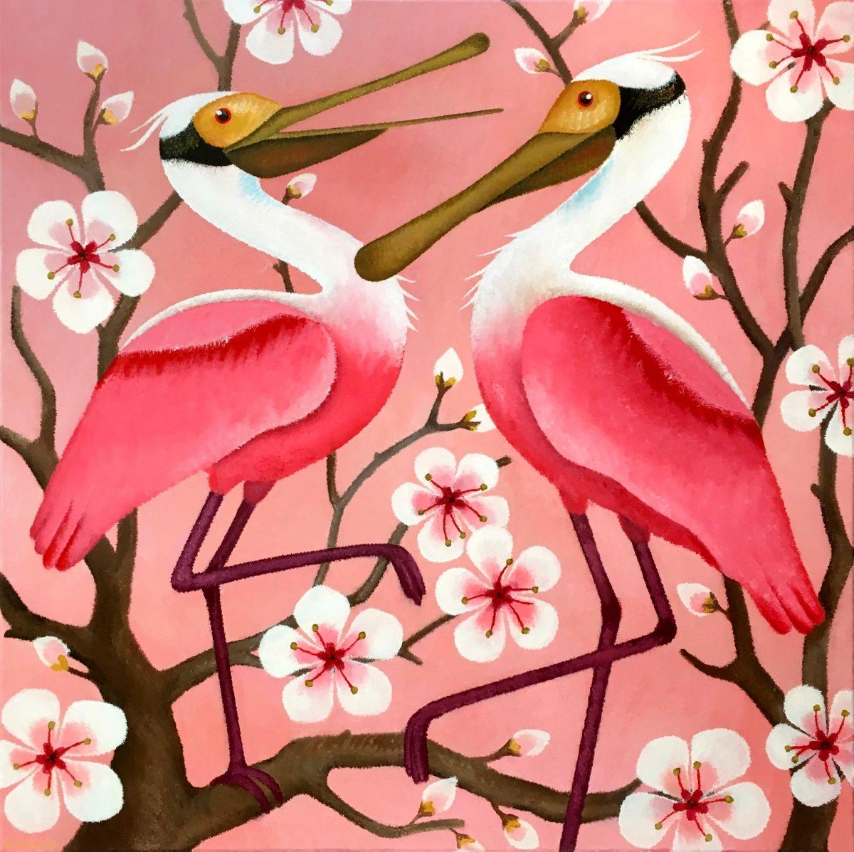 Kunst: Pink cherry van kunstenaar Yvonne Zomerdijk