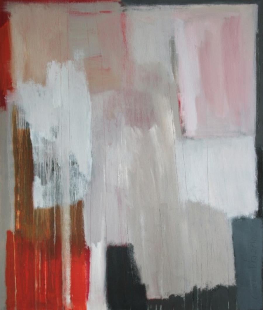 Kunst: Pink Dawn van kunstenaar Lou Vos