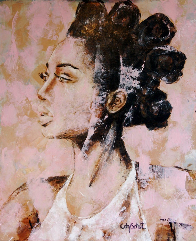Kunst: Pink Love van kunstenaar Coby Schot