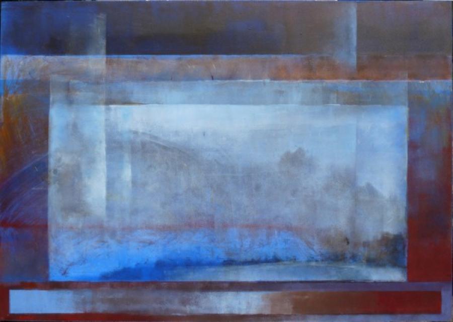 Kunst: pruissisch blauw van kunstenaar Koeno Jansen