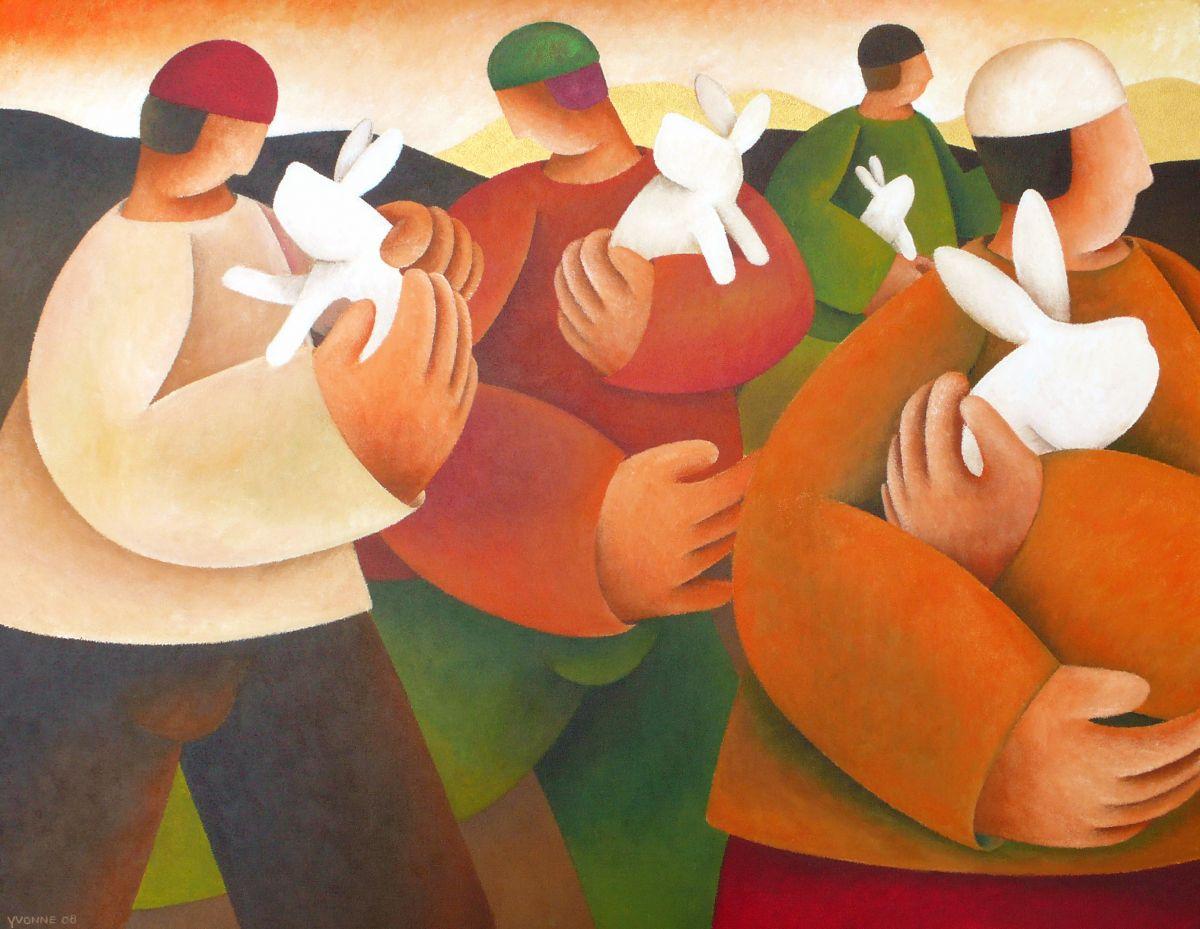 Kunst: Rabbit hill van kunstenaar Yvonne Zomerdijk