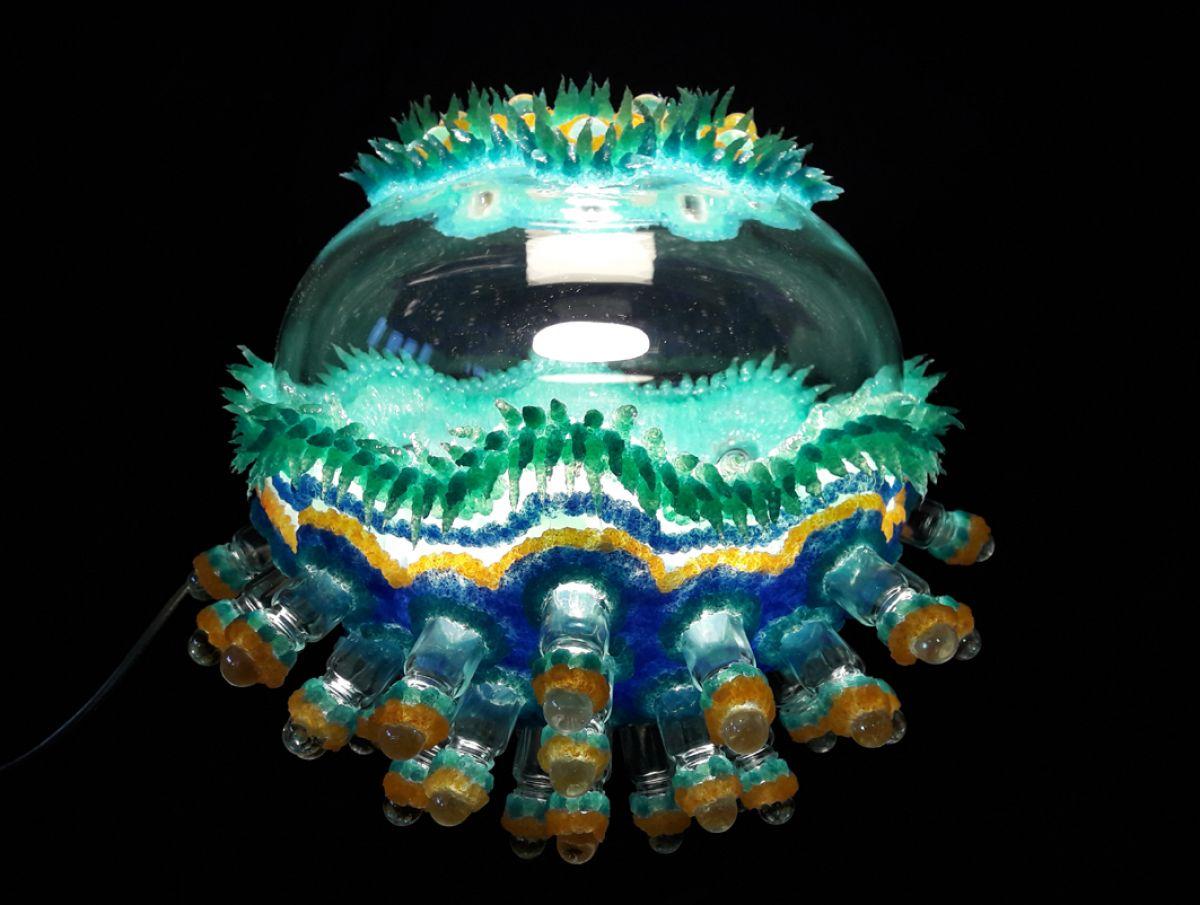 Kunst: radiolarie-lamp van kunstenaar Janine Schimkat