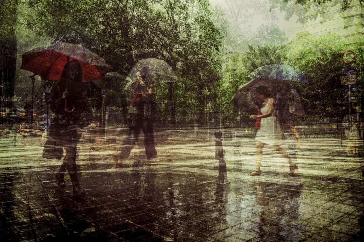 Kunst: Rainy Day van kunstenaar Thomas Vanoost