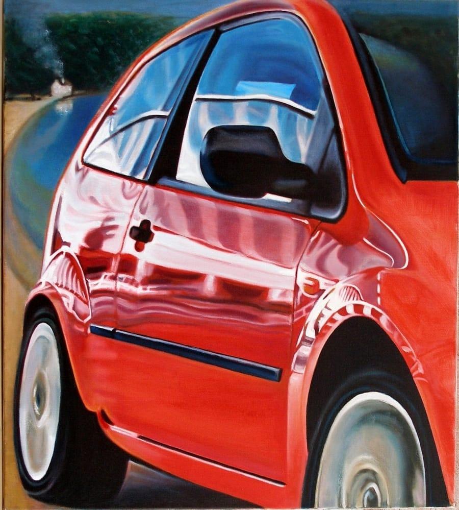 Kunst: rear mirror van kunstenaar Leo Wijnhoven