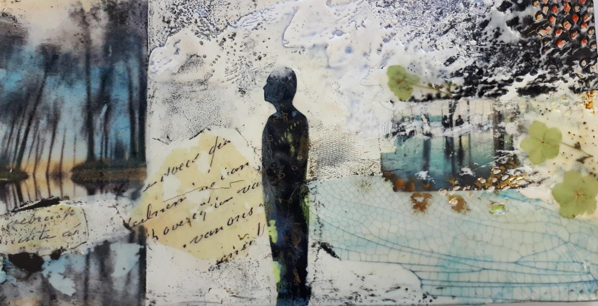Kunst: Reflections 2 van kunstenaar Trijnie Mohlmann