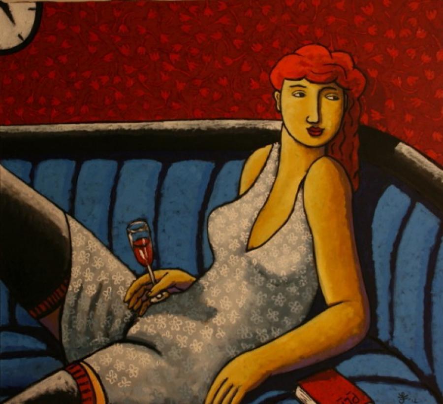 Kunst: Relativity of time van kunstenaar Jacques Tange