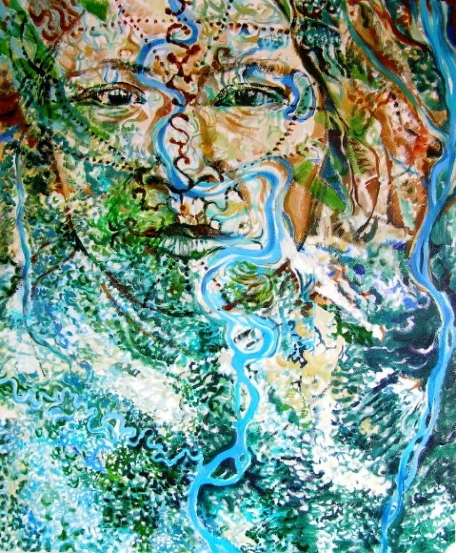 Kunst: Riviergezicht van kunstenaar Sanneke S.I. Griepink