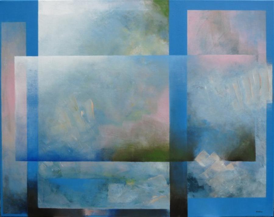 Kunst: roze 3 van kunstenaar Koeno Jansen
