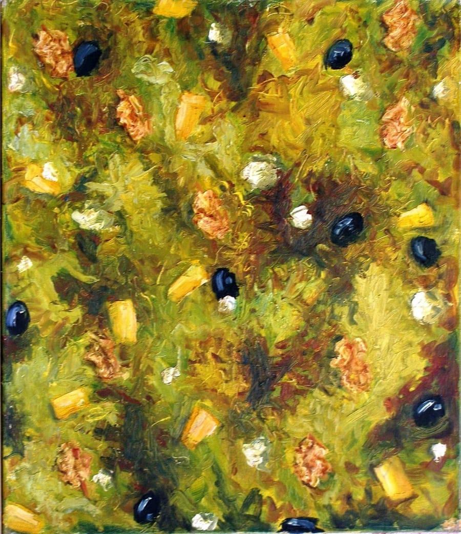 Kunst: salade van kunstenaar Leo Wijnhoven