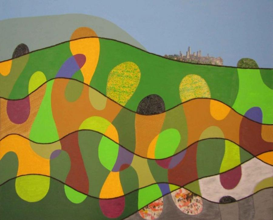 Kunst: San Gimignano van kunstenaar Vera Zegerman