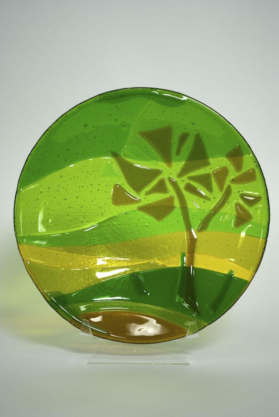 Kunst: schaal groene nevel van kunstenaar Angenelle Thijssen