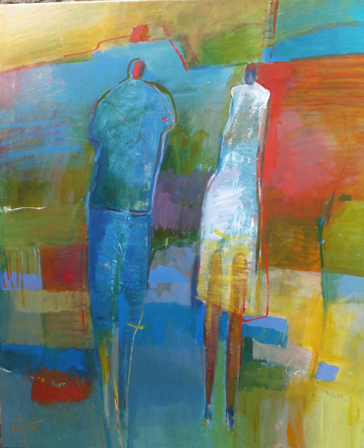 Kunst: schaduw van kunstenaar Heleen Wilke