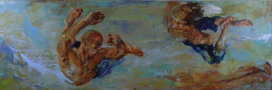 Kunst: Serie Moving nr 4 van kunstenaar Bernadette Sterk