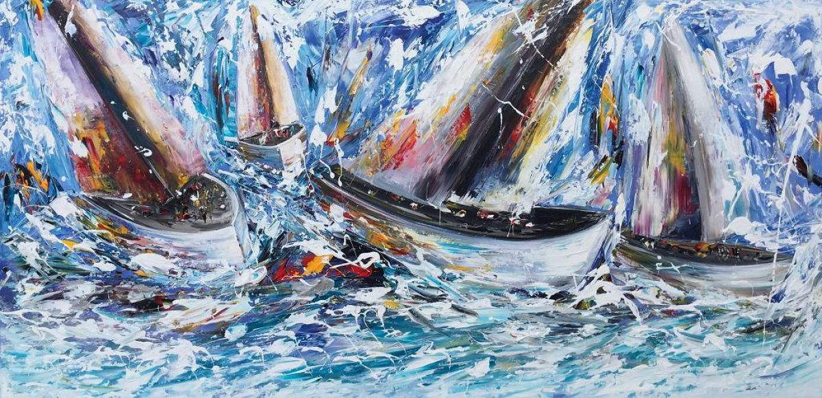 Kunst: Ships van kunstenaar Gena n Gena