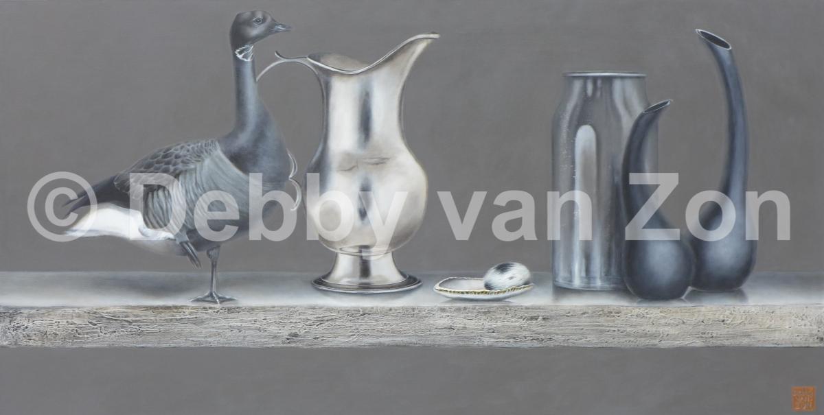 Kunst: Silence in Silver van kunstenaar Debby van Zon