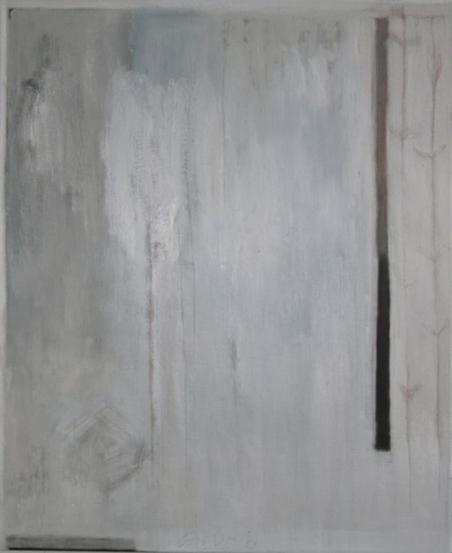 Kunst: Silent landscape I van kunstenaar Lou Vos