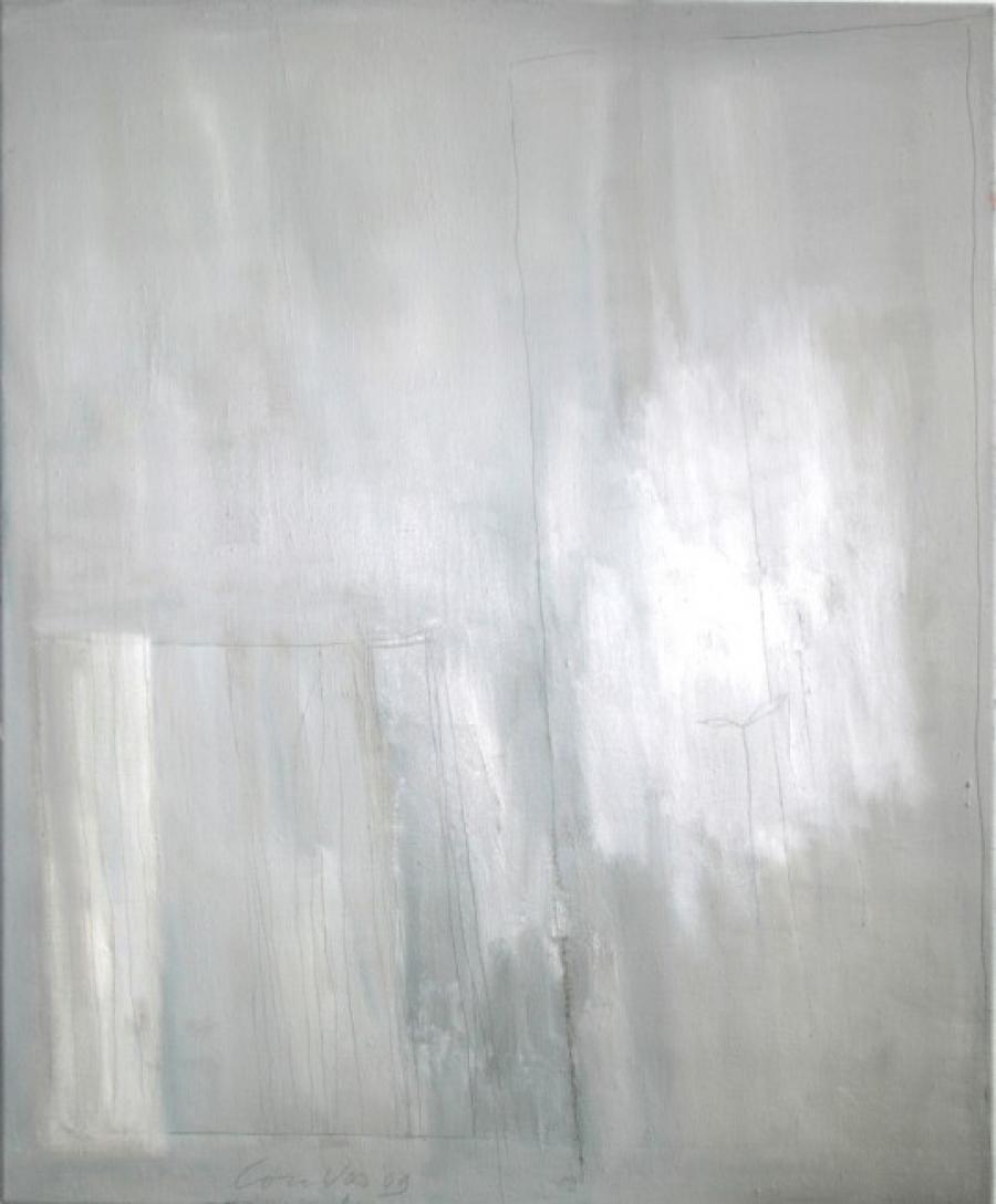 Kunst: Silent landscape II van kunstenaar Lou Vos