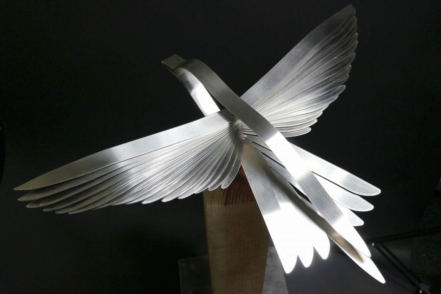 Kunst: Silver Bird van kunstenaar Bert Verboon