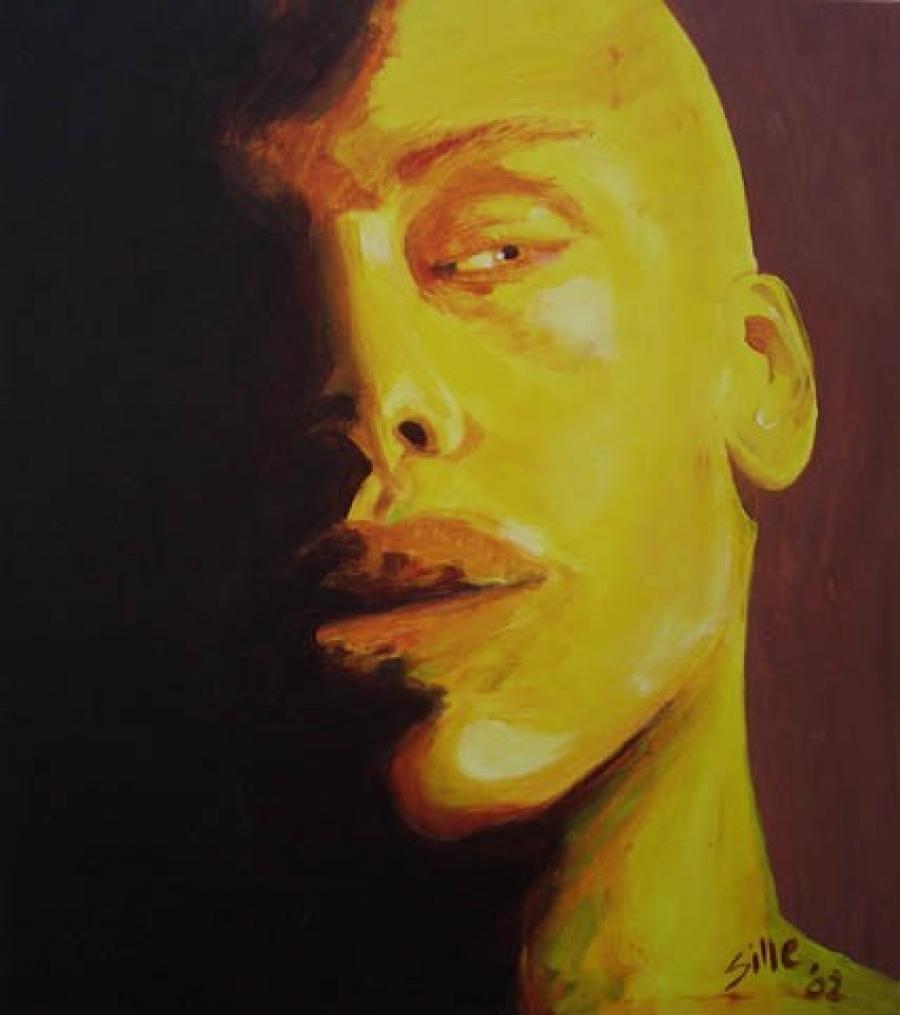 Kunst: Sly Yellow van kunstenaar Tamara Sille