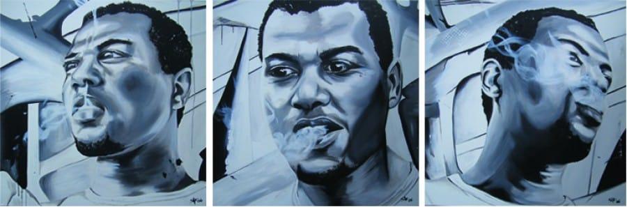 Kunst: Smoking negro 1, 2 en 3 van kunstenaar Tamara Sille