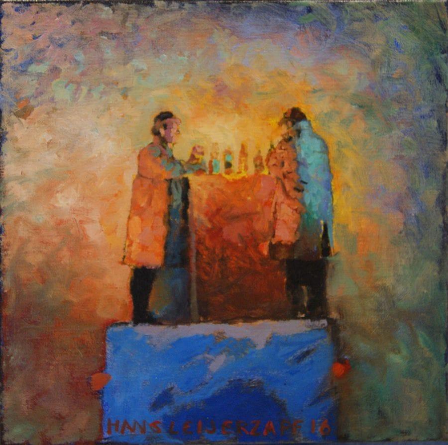 Kunst: Soms met enige schroom van kunstenaar Hans Leijerzapf