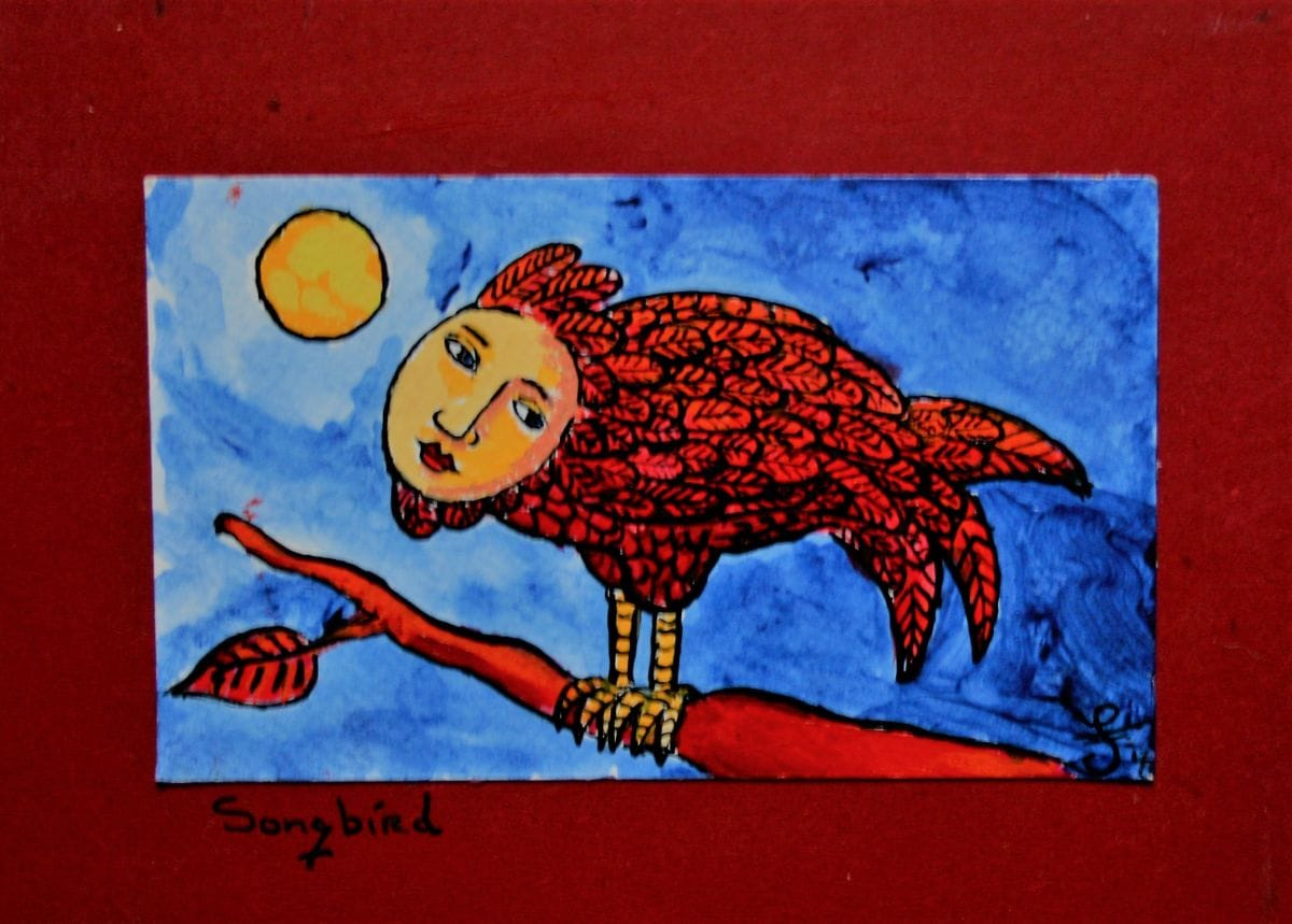 Kunst: Song bird van kunstenaar Jacques Tange