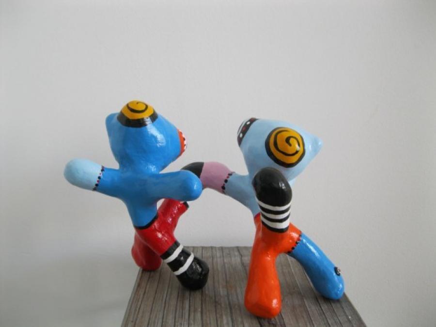 Kunst: Spelende katjes van kunstenaar Jacky Zegers