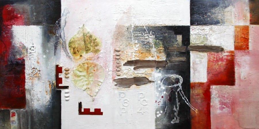 Kunst: Sporen uit 'n ver verleden II van kunstenaar Toos van Poppel