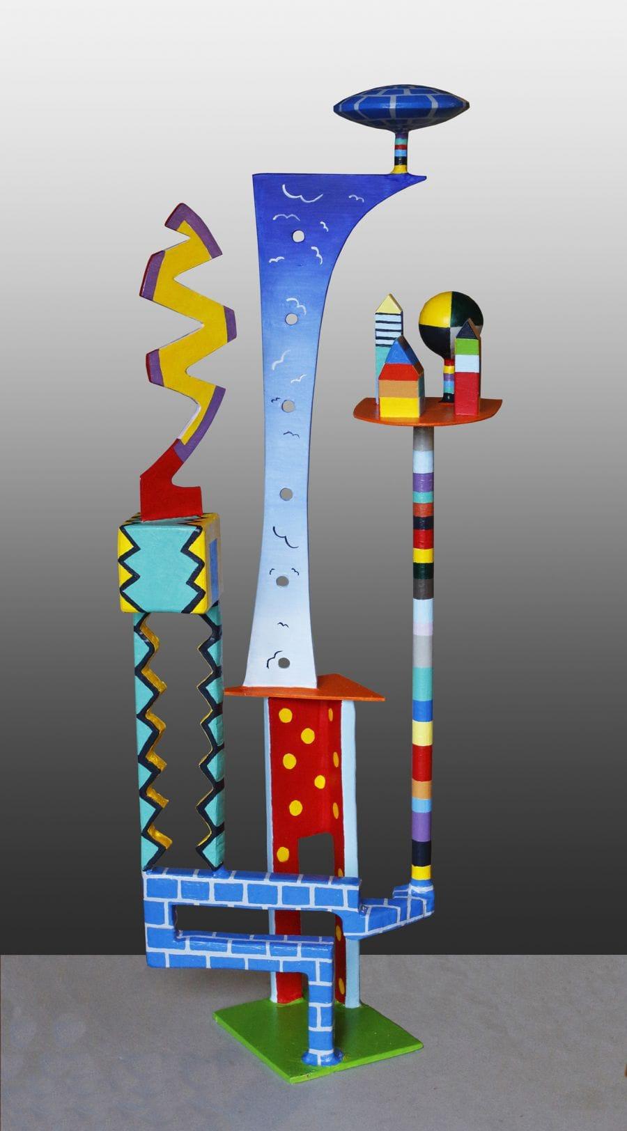Kunst: Staande figuren 8 van kunstenaar Frans Muhren