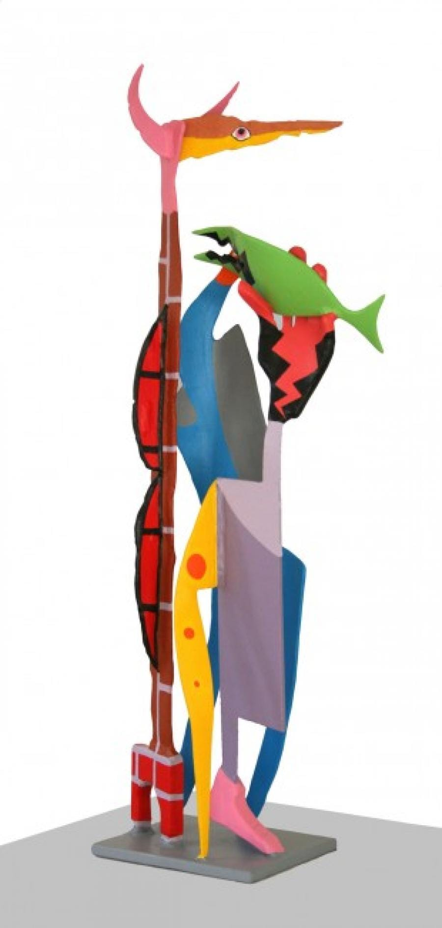 Kunst: Staande figuur 3 van kunstenaar Frans Muhren