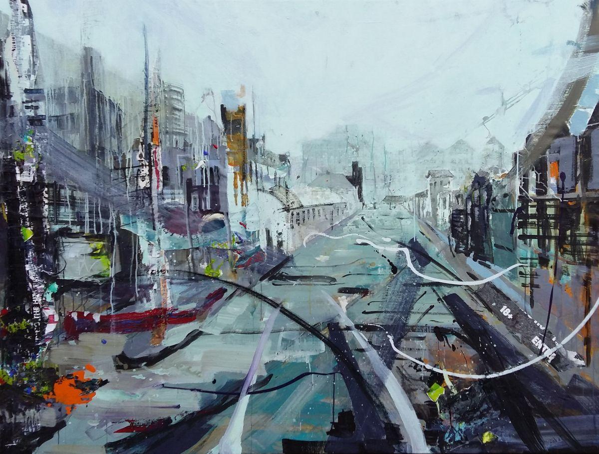 Kunst: Station Haarlem van kunstenaar Anneke Koster