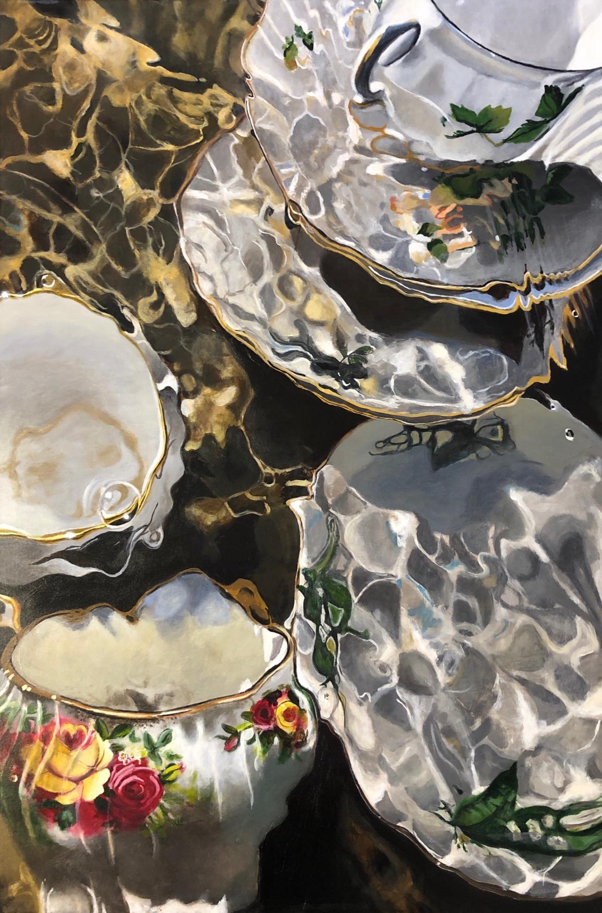 Kunst: Stilleven onder water van kunstenaar Hannelore Houdijk