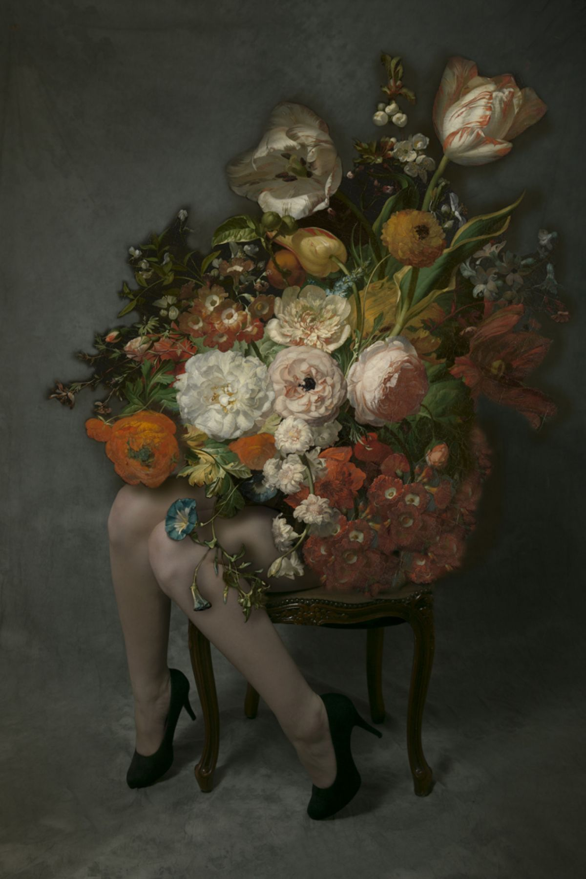 Kunst: Stillife on legs -2 van kunstenaar Kaat Stieber