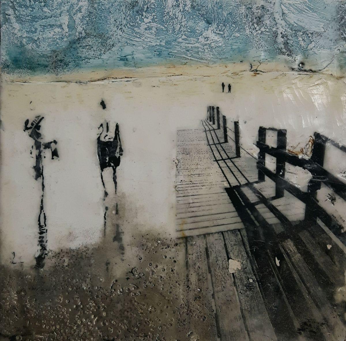 Kunst: Strandwandeling III van kunstenaar Trijnie Mohlmann