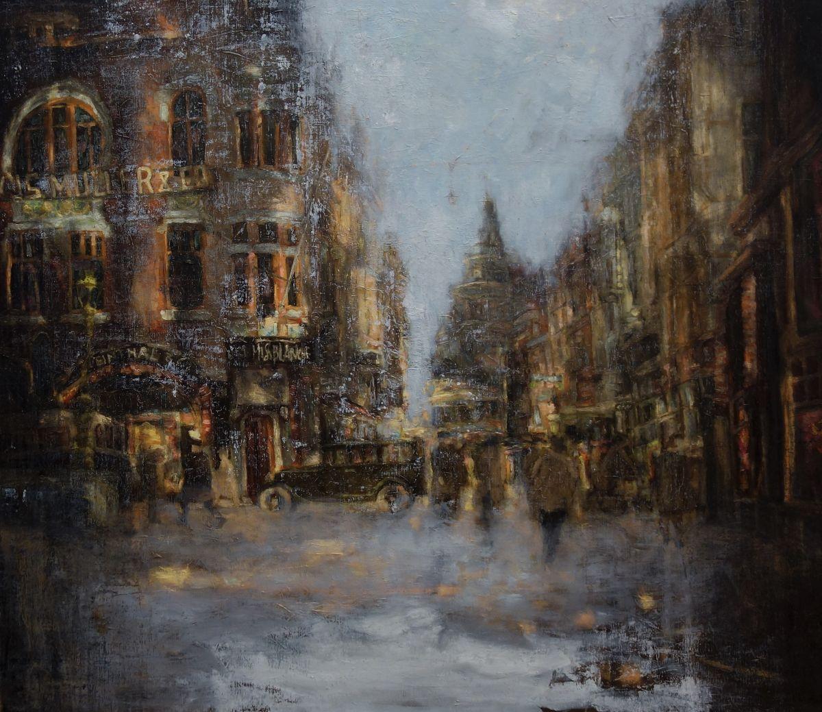 Kunst: streetscene van kunstenaar Erik-Jan Vaandering