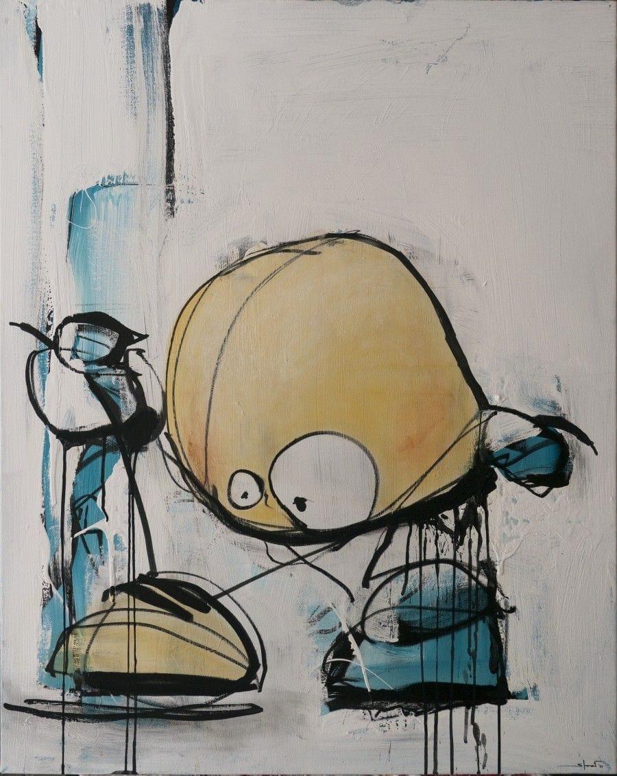 Kunst: Strik van kunstenaar David de Winter (Staaf)