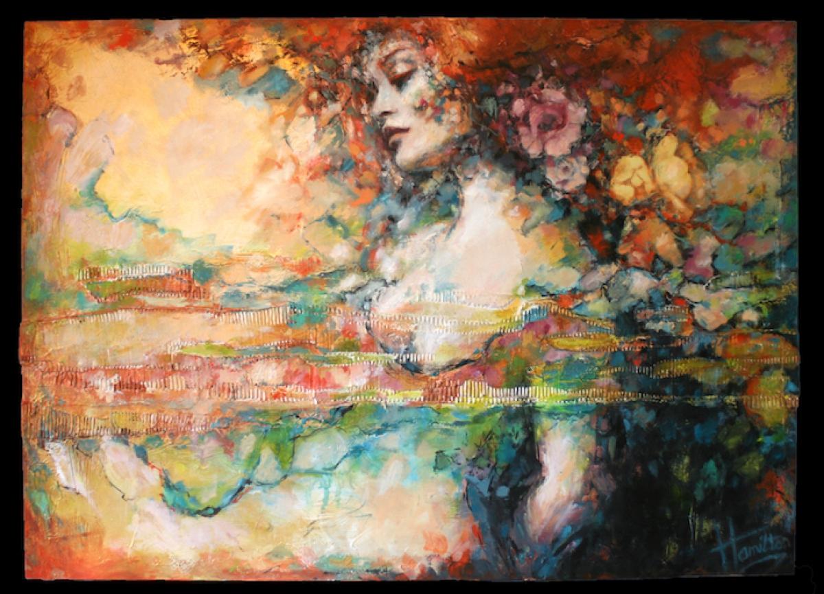 Kunst: Summer Breeze van kunstenaar Evelyn Hamilton