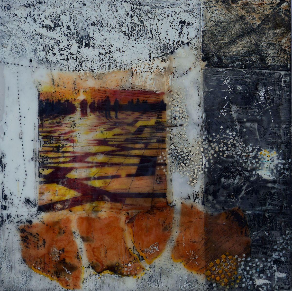 Kunst: Sunny afternoon in Casa Blanca II van kunstenaar Trijnie Mohlmann