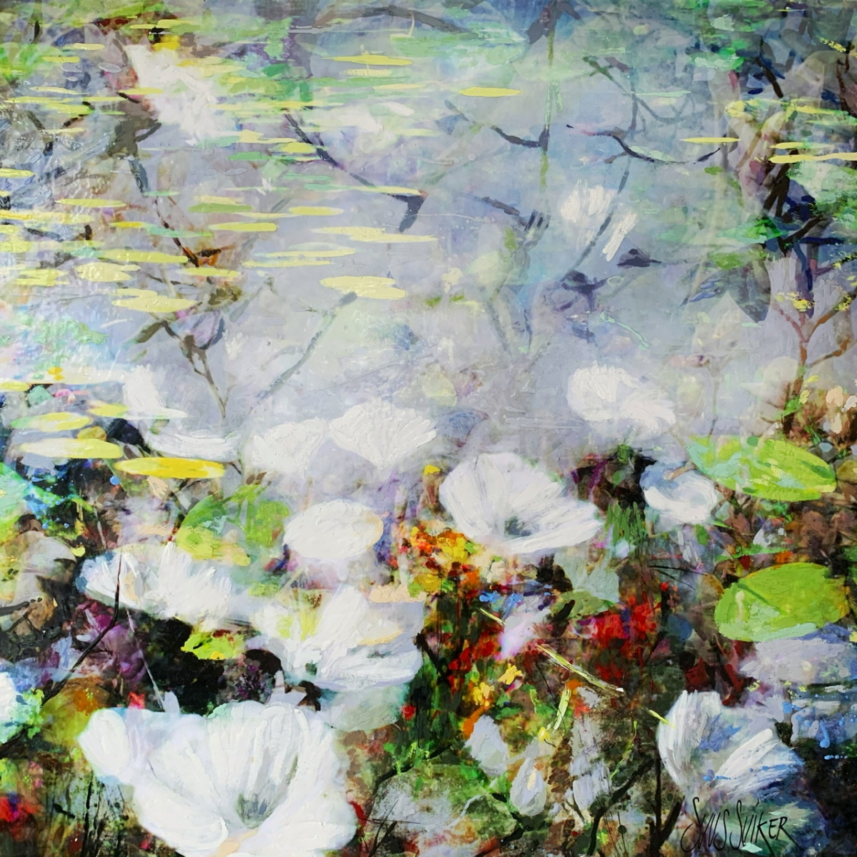 Kunst: Symbiose 110-06 van kunstenaar Suus Suiker