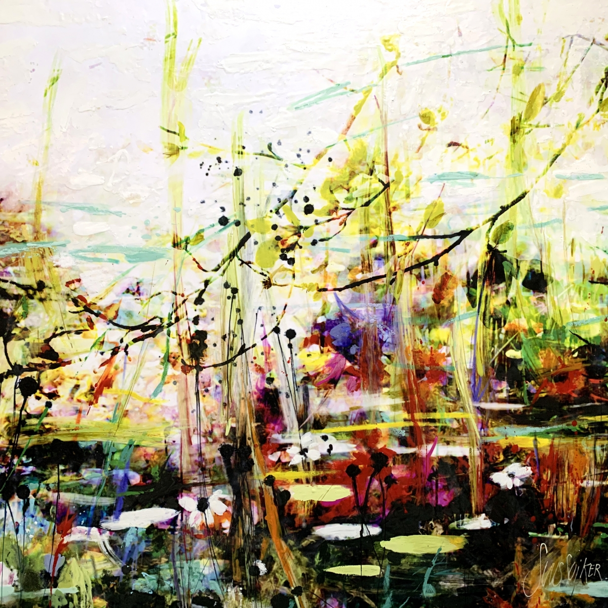 Kunst: Symbiose 120-03 van kunstenaar Suus Suiker