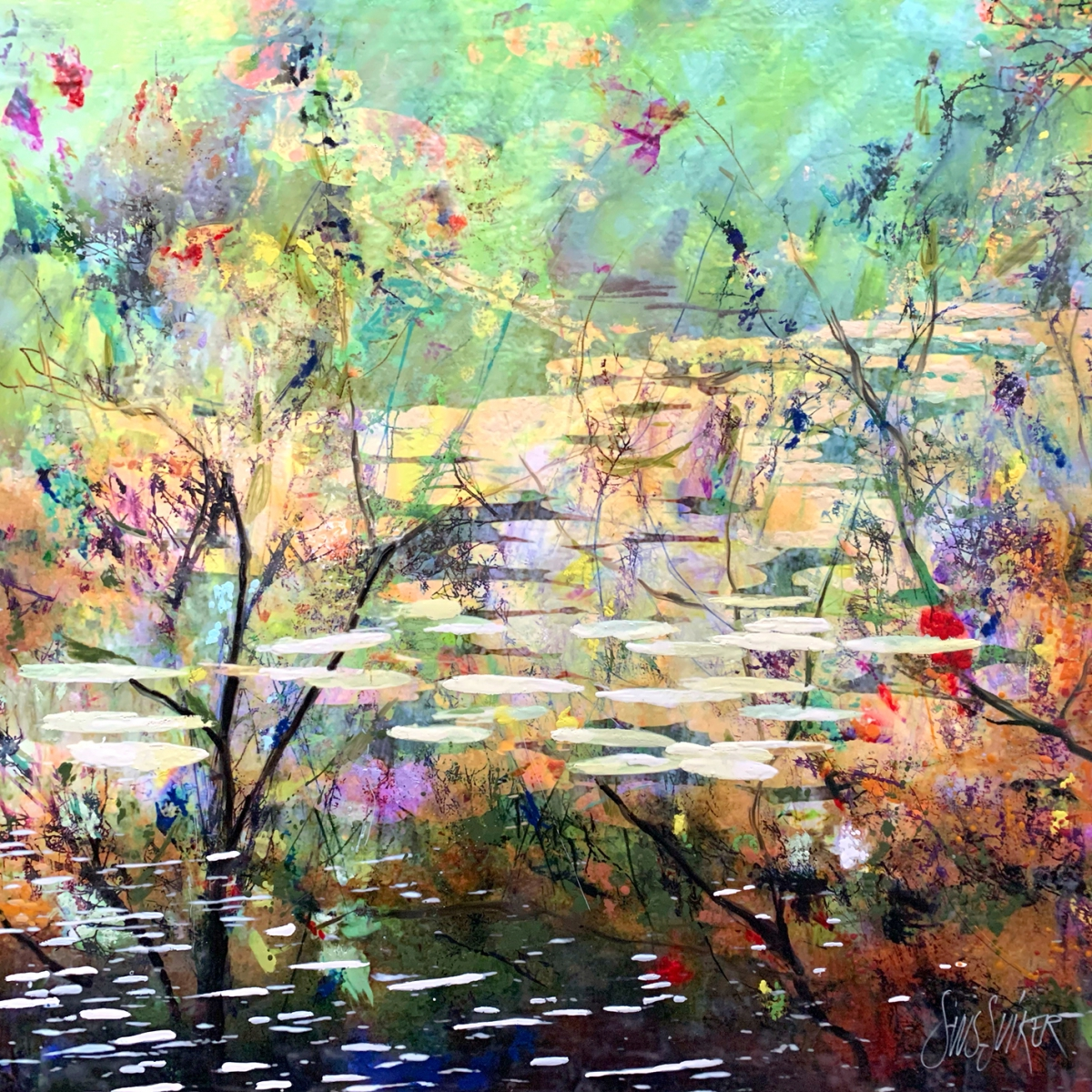 Kunst: Symbiose 120-06 van kunstenaar Suus Suiker